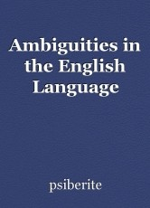 Ambiguities in the English Language