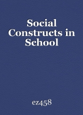 Social constructs in school