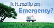 Is it really an emergency?