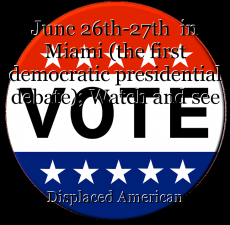 June 26th-27th  in Miami (the first democratic presidential debate); Watch and see the 46th President of the United States.
