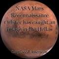 NASA Mars Reconnaissance Orbiter has caught an image in the Hellas Planitia region (of Mars) with an image of Star Trek Starfleet insignia.