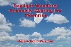 Daylight Wanderer Anxiously Waiting For Moonrise