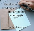 thank you to all who read my articles, books, and given their comments.