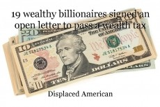 19 wealthy billionaires signed an open letter to pass a wealth tax