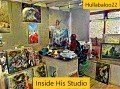 Inside His Studio
