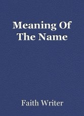 Meaning Of The Name
