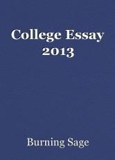College Essay 2013