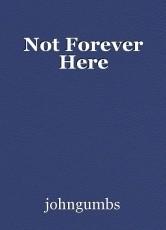 Not Forever Here