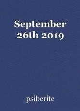 September 26th 2019
