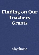 Finding on Our Teachers Grants