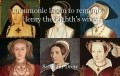 Pneumonic Poem to remember Henry the Eighth's wives