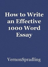 How to Write an Effective 1000 Word Essay