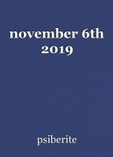 november 6th 2019