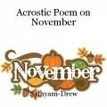 Acrostic Poem on November