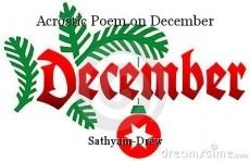 Acrostic Poem On December Poem By Sathyam Drew