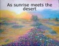 As sunrise meets the desert