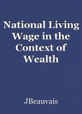 National Living Wage in the Context of Wealth Disparity in the UK