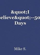 """""""I Believe""""--500 Days"""