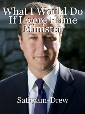 What I Would Do If I were Prime Minister