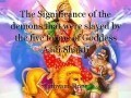 The Significance of the demons that were slayed by the five forms of Goddess Aadi Shakti