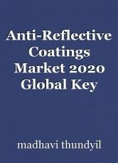 Anti-Reflective Coatings Market 2020 Global Key Statistics and 2030 Forecasts
