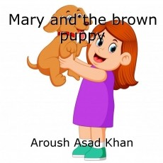 Mary and the brown puppy