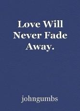 Love Will Never Fade Away.