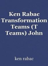 Ken Rabac Transformation Teams (T Teams) John Kenneth Rabac