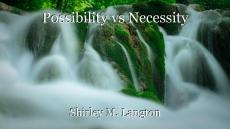 Possibility vs Necessity