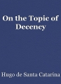 On the Topic of Decency