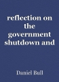reflection on the government shutdown and public schools