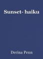 Sunset- haiku