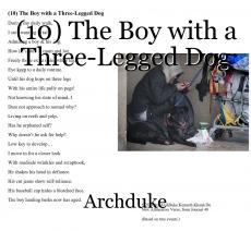 (10) The Boy with a Three-Legged Dog
