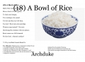 (18) A Bowl of Rice