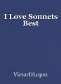 I Love Sonnets Best