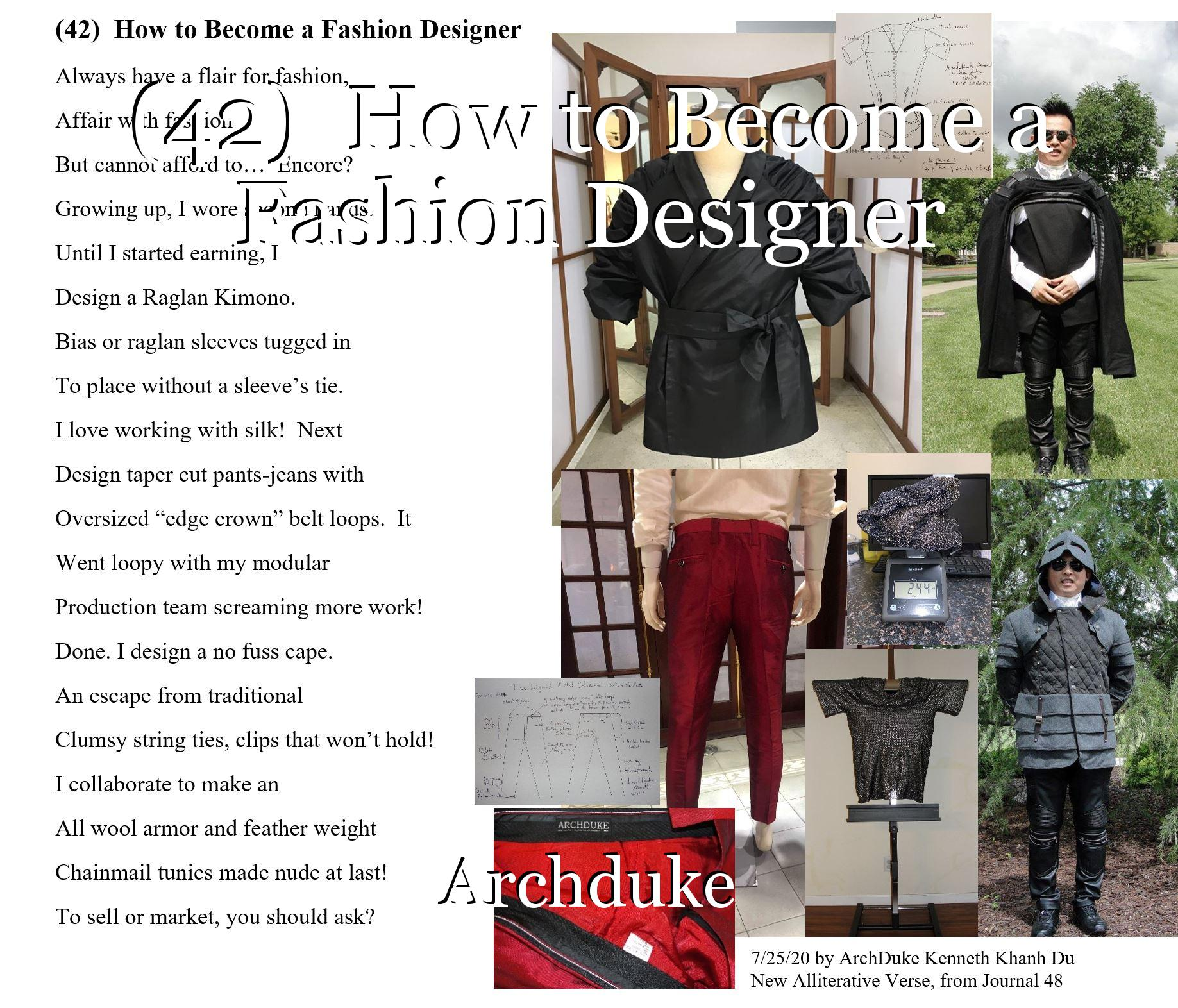 42 How To Become A Fashion Designer Poem By Archduke