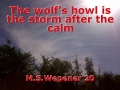 The wolf's howl is the storm after the calm