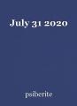 July 31 2020