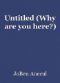 Untitled (Why are you here?)