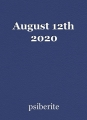 August 12th 2020