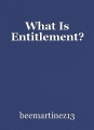What Is Entitlement?