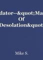 "Predator--""Master Of Desolation"""