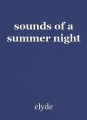 sounds of a summer night