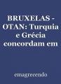 BRUXELAS - OTAN: Turquia e Grécia concordam em manter conversações técnicas