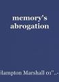 memory's abrogation