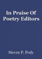 In Praise Of Poetry Editors