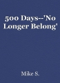 500 Days--'No Longer Belong'