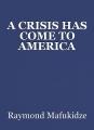 A CRISIS HAS COME TO AMERICA