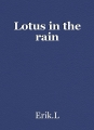 Lotus in the rain
