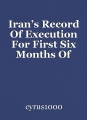 Iran's Record Of Execution For First Six Months Of 2020